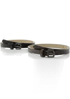Steve Madden Women's Patent Two-For-One Pant Belt