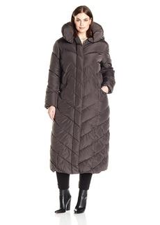 Steve Madden Women's Plus Size Maxi Puffer Coat