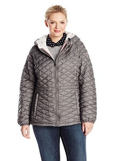 Steve Madden Women's Plus-Size Quilted Anorak with Hood Plus  3X