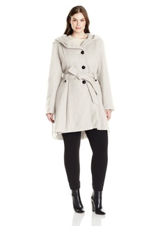 Steve Madden Women's Plus Size Single Breasted Wool Coat