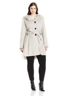 Steve Madden Women's Plus Size Single Breasted Wool Coat