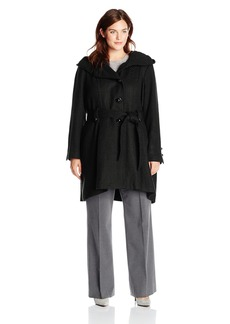Steve Madden Women's Plus-Size Single Breasted Wool Coat - Plus
