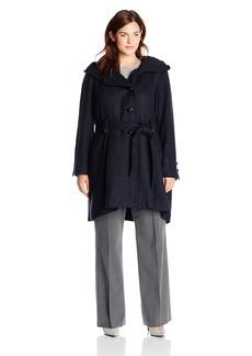 Steve Madden Women's Plus-Size Single Breasted Wool Coat