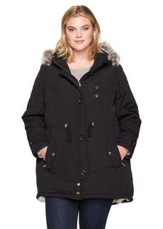 Steve Madden Women's Plus Size Talson Parka Jacket