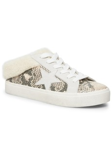 Steve Madden Women's Polaris Faux-Fur Backless Sneakers