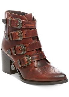 Steve Madden Women's Prairie Western Block-Heel Booties Women's Shoes