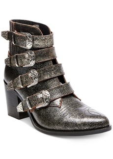 Steve Madden Women's Prairie Western Block-Heel Booties Women's Shoes