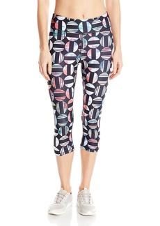 Steve Madden Women's Prism Sunset Print Capri Legging  S
