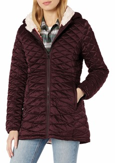 Steve Madden Women's Quilted Anorak with Hood  XL