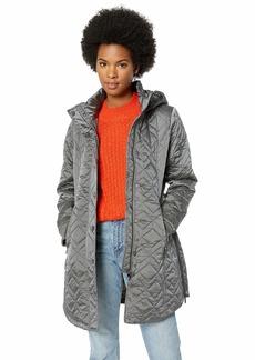 Steve Madden Women's Quilted Fashion Jacket Mini Titanium L