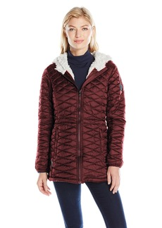 Steve Madden Women's Quilted Glacier Shield Coat  L