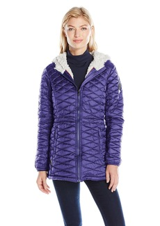 Steve Madden Women's Quilted Glacier Shield Coat  M