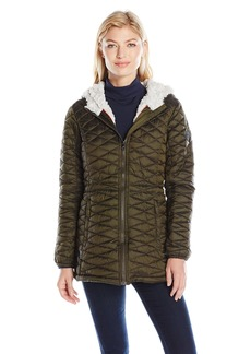 Steve Madden Women's Quilted Glacier Shield Coat  S