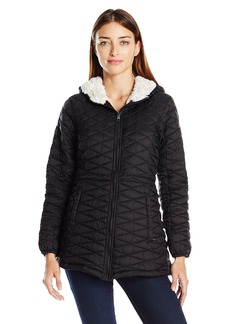Steve Madden Women's Quilted Glacier Shield Coat Black/Ivory S