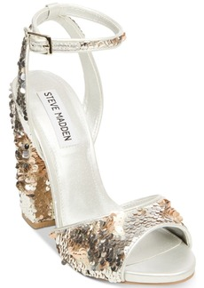 Steve Madden Women's Ritzy Sequin Dress Sandals