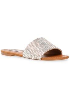 Steve Madden Women's Roles Rhinestone Slide Sandals