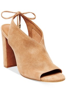 Steve Madden Women's Saffron Peep-Toe Block-Heel Sandals Women's Shoes