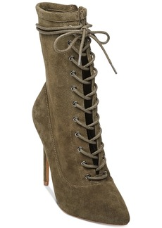 Steve Madden Women's Satisfied Lace-Up Stiletto Booties
