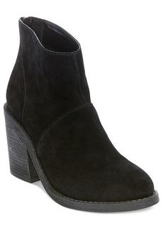 Steve Madden Women's Shrines Back-Zipper Block-Heel Booties Women's Shoes