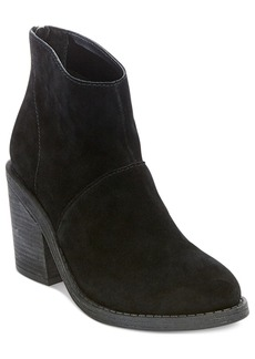 Steve Madden Women's Shrines Back-Zipper Block-Heel Booties Women's Shoes