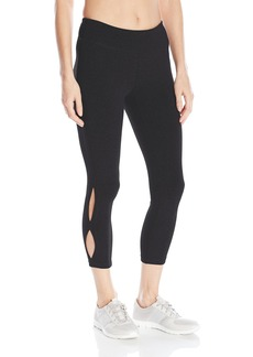Steve Madden Women's Side Seam Cut Out Crop Legging