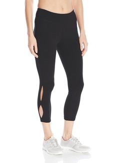 Steve Madden Women's Side Seam Cut Out Crop Legging