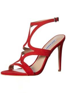 Steve Madden Women's Sidney Heeled Sandal red Nubuck
