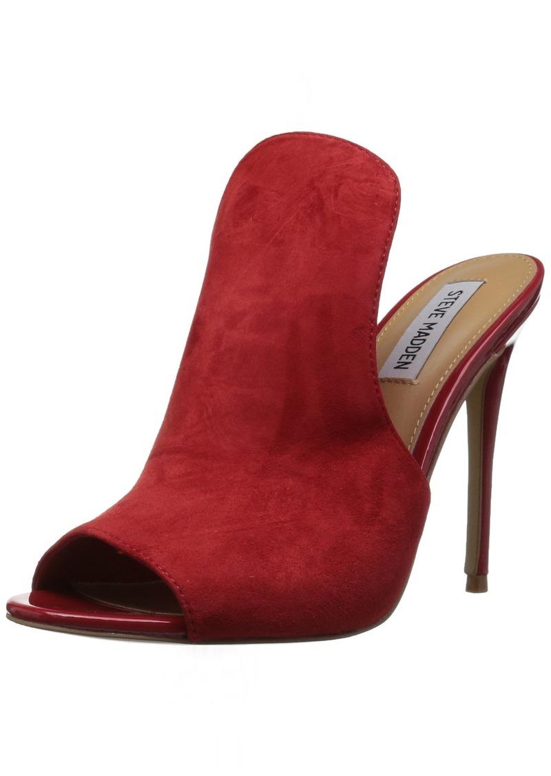 Steve Madden Women's Sinful Heeled Sandal red Suede