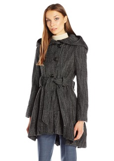 Steve Madden Women's Single Breasted Drama Coat  L