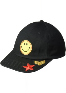 Steve Madden Women's Smiley Face Patch Baseball Cap
