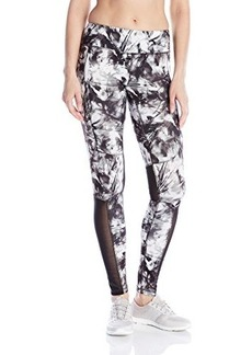 Steve Madden Women's Smoke Print Barre Ruched Tight with Mesh Insets