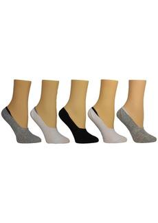 Steve Madden Women's Solid Foot Liner Socks, Pack of 5