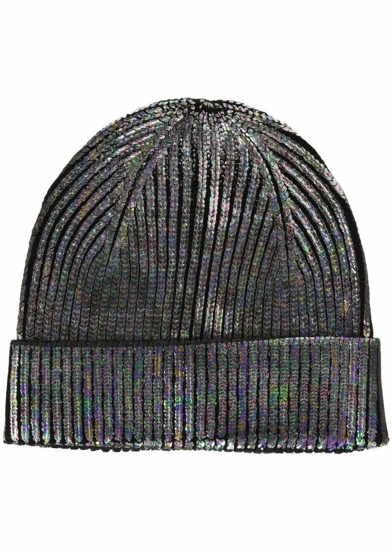 Steve Madden Women's Solid Metallic Cuff Hat  ONE Size