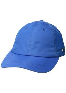 Steve Madden Women's Solid Soft Nylon Baseball Cap neon Blue