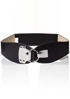 Steve Madden Women's Stretch Belt with Metal Plate Detail and Hook Hardware  Small/Medium