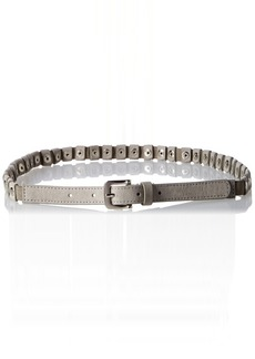 Steve Madden Women's Stretch Pant Belt with Stud Patches Grey