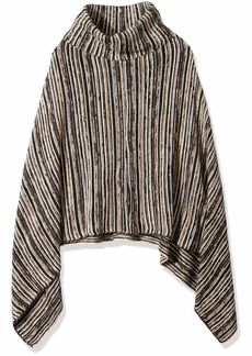 Steve Madden Women's Striped Poncho  ONE Size
