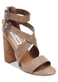 Steve Madden Women's Sundance Stacked-Heel Dress Sandals