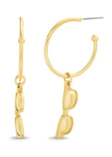Steve Madden Women's Sunglasses Charm Hoop Earrings