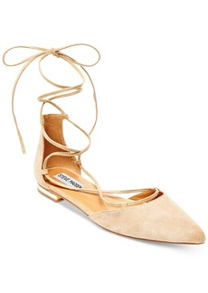 Steve Madden Women's Sunshine Lace-Up Pointed Flats Women's Shoes