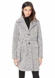 Steve Madden Women's Sweater Fleece Wrap Coat  L