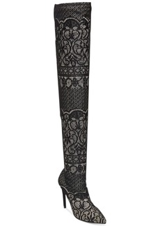 Steve Madden Women's Tiffy Over-The-Knee Lace Boots