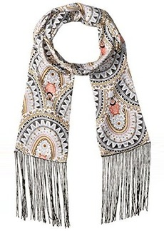 Steve Madden Women's Tribal Mandela Long and Skinny Scarf