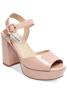 Steve Madden Women's Trixie Two-Piece Block-Heel Platform Sandals Women's Shoes