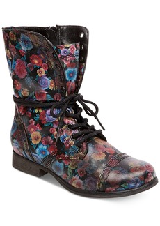 Steve Madden Women's Troopa Floral Combat Boots