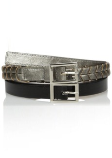 Steve Madden Women's Two For One Belt with Lacing Detail