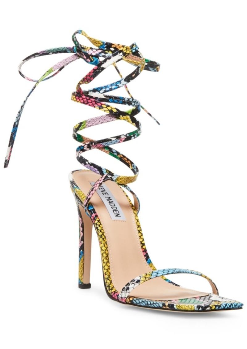 Steve Madden Women's Uplift Ankle-Tie Sandals