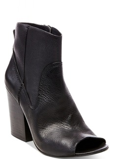 Steve Madden Women's Veronah Peep-Toe Block-Heel Booties Women's Shoes