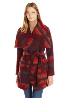 Steve Madden Women's Wool Blend Wrap Coat  L