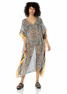 Steve Madden Women's Zebra Print Poncho